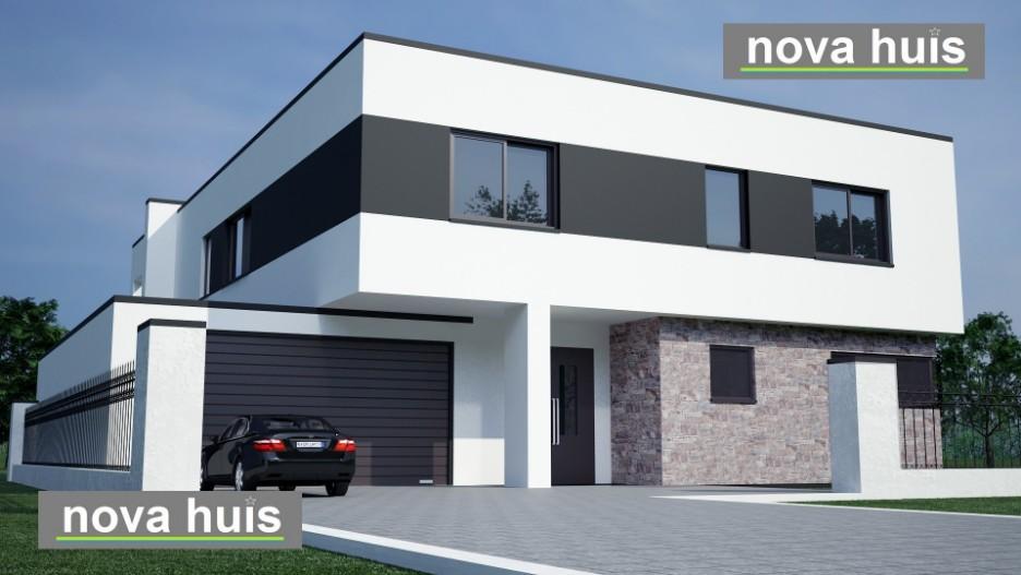 Modern kubistisch woning huis of villa nova huis - Huis in de moderne ...