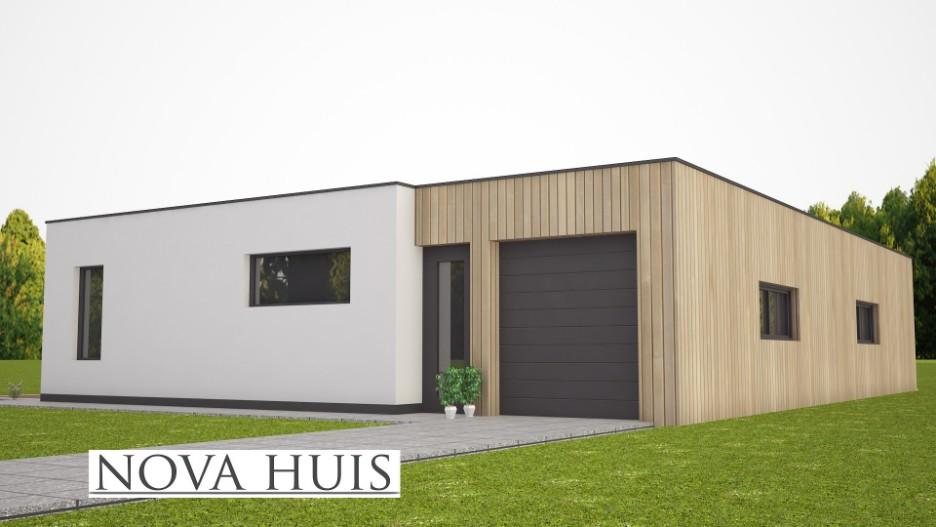 Moderne bungalow met plat dak ontwerpen en bouwen a46 for Energieneutraal bouwen
