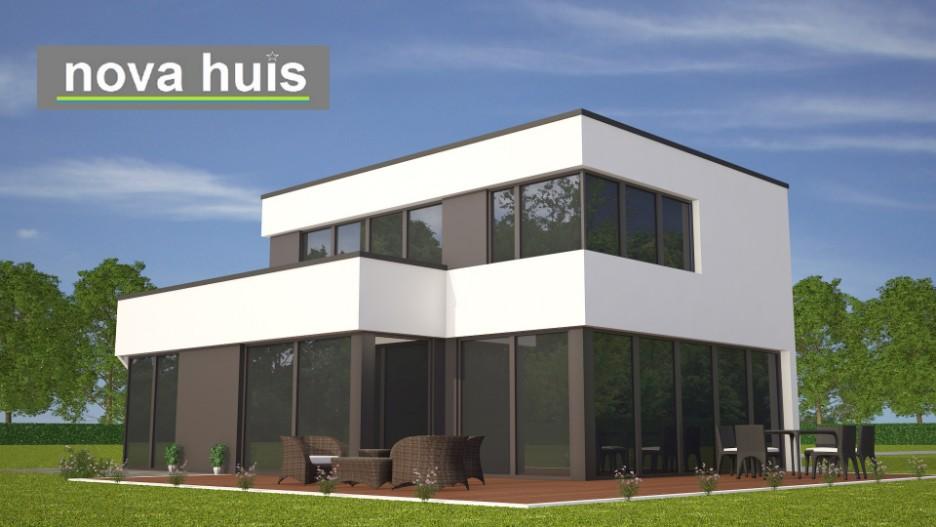 Moderne kubistische woning in eigentijdse bouwstijl k nova huis