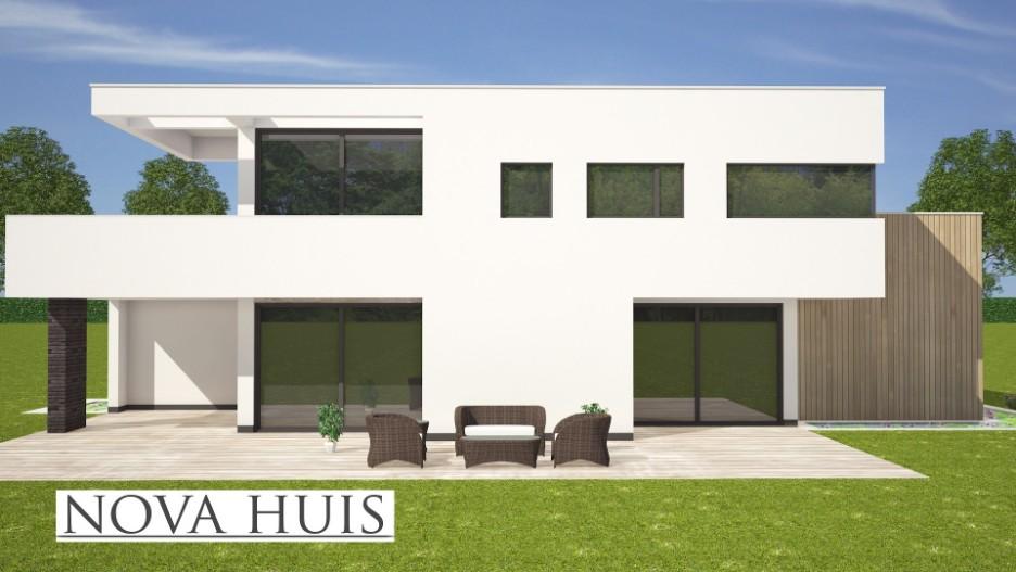 Moderne kubistische villa k nova huis