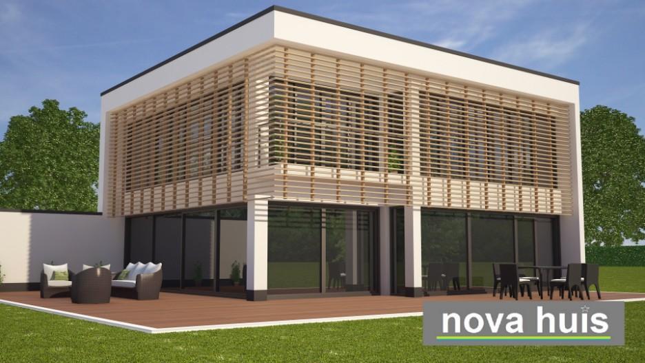 Moderne kubistische bouwstijl k95 nova huis - Gevel eigentijds huis ...
