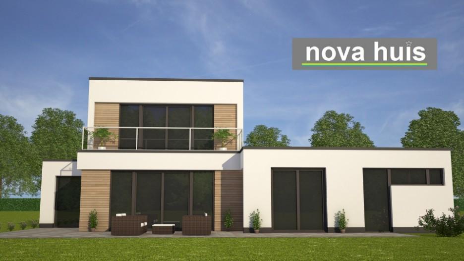 Moderne kubistische bungalowwoning k nova huis