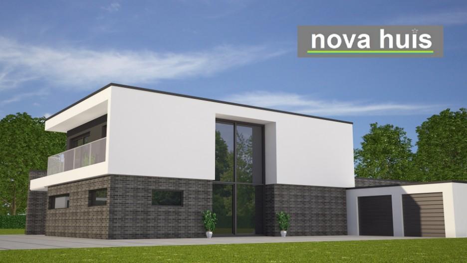 Modern kubistisch huis eigentijdse bouwstijl k96 nova huis