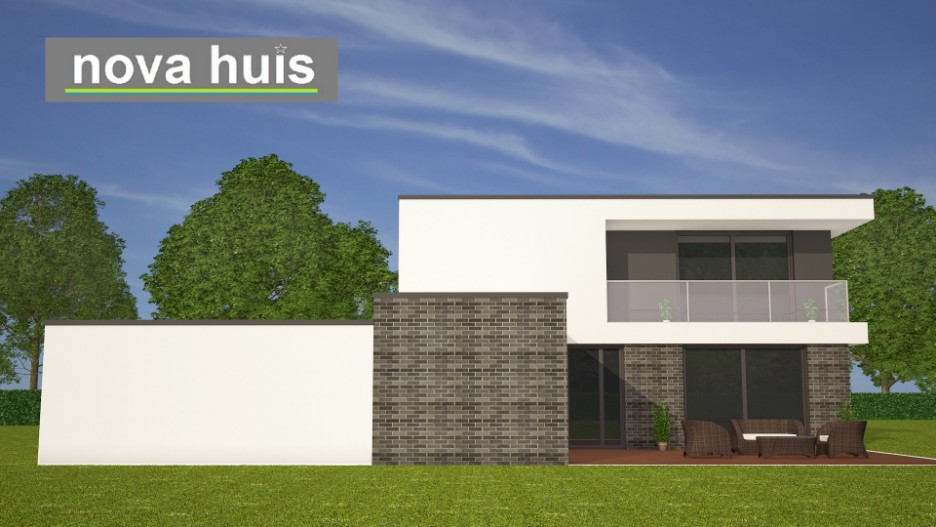 Modern kubistisch huis eigentijdse bouwstijl k96 nova huis - Huis in de moderne ...