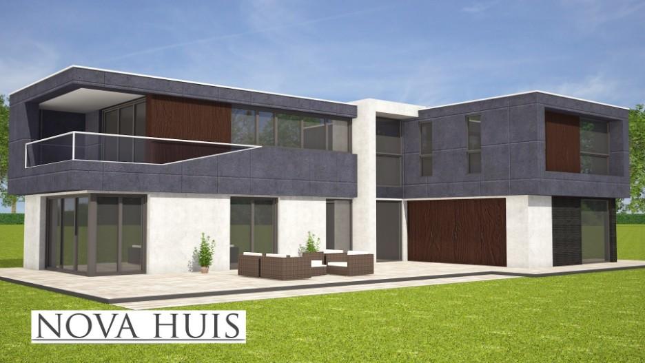 Moderne kubistische woning k165 nova huis for Kavel en huis magazine