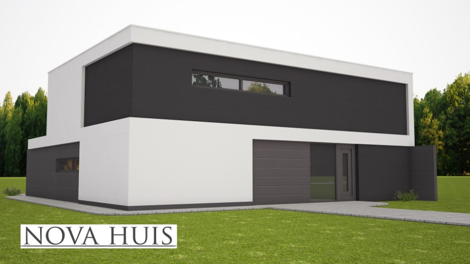 moderne energieneutrale kubistische woning k226 nova huis