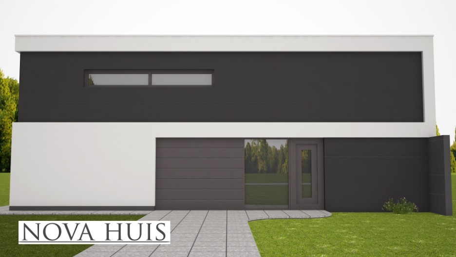 Moderne energieneutrale kubistische woning k nova huis