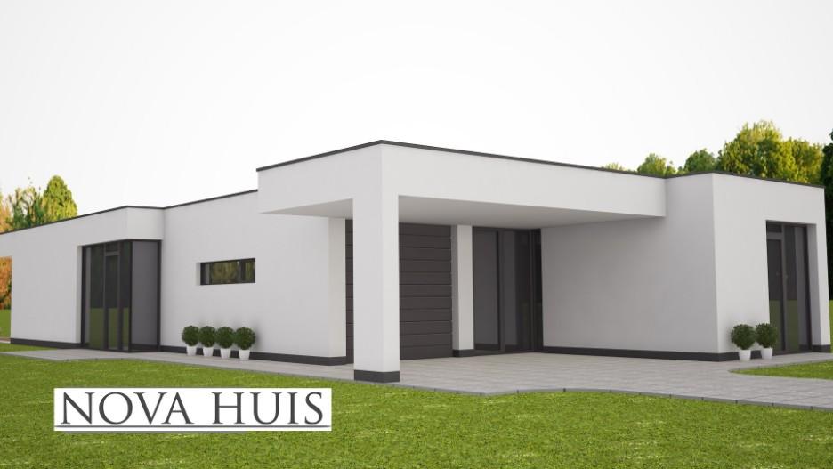 Moderne bungalow met plat dak ontwerpen en bouwen a58 for Moderne semi bungalow bouwen