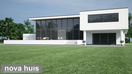 Modern kubistisch woning huis of villa nova huis for Moderne semi bungalow bouwen