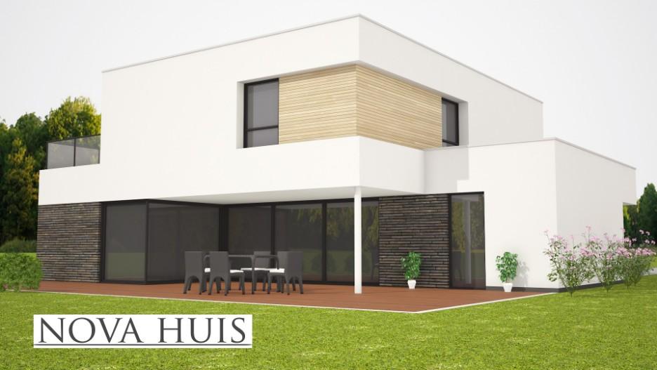 Casco Huis Bouwen : Modern kubistisch woning huis of villa nova huis
