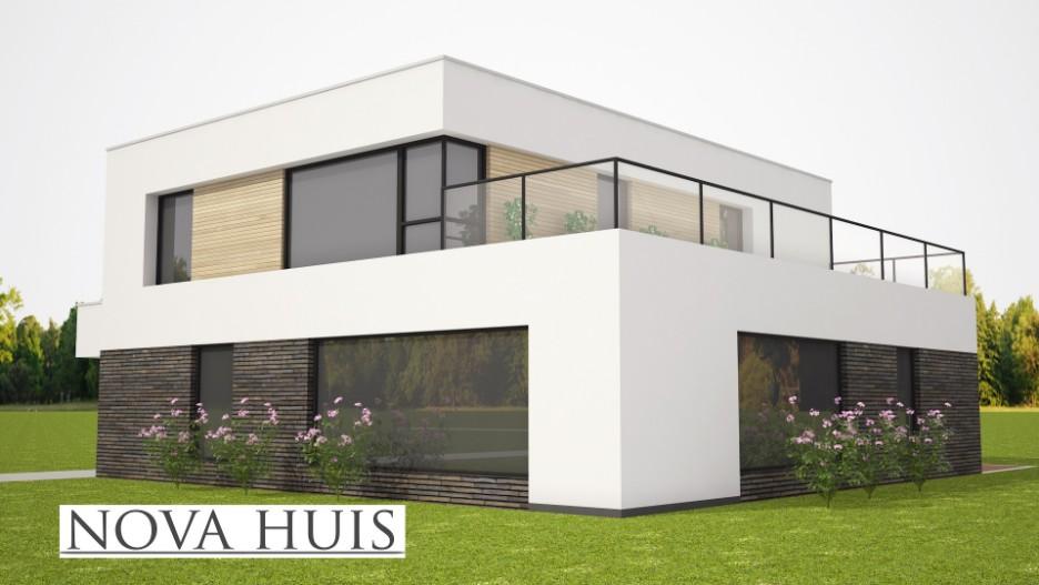 Casco Huis Bouwen : Moderne energieneutrale kubistische woning k nova huis