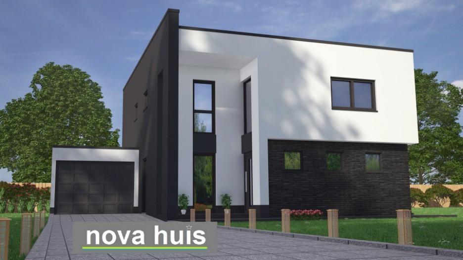 Modern kubistisch woning huis of villa nova huis for Moderne laagbouw woningen