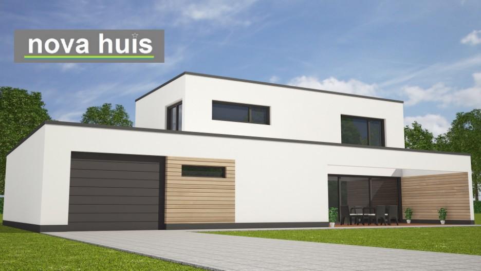 Modern kubistisch woning huis of villa nova huis - Moderne verdieping ...