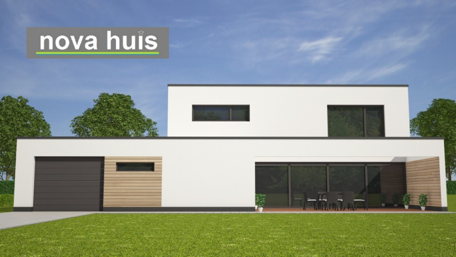 Moderne kubistische woning k122 nova huis for Moderne semi bungalow bouwen