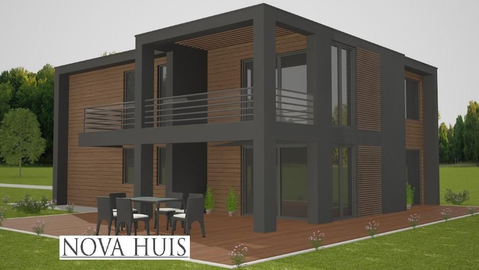 Prachtige moderne villa wonen en werken m172 nova huis for Moderne villa architectuur