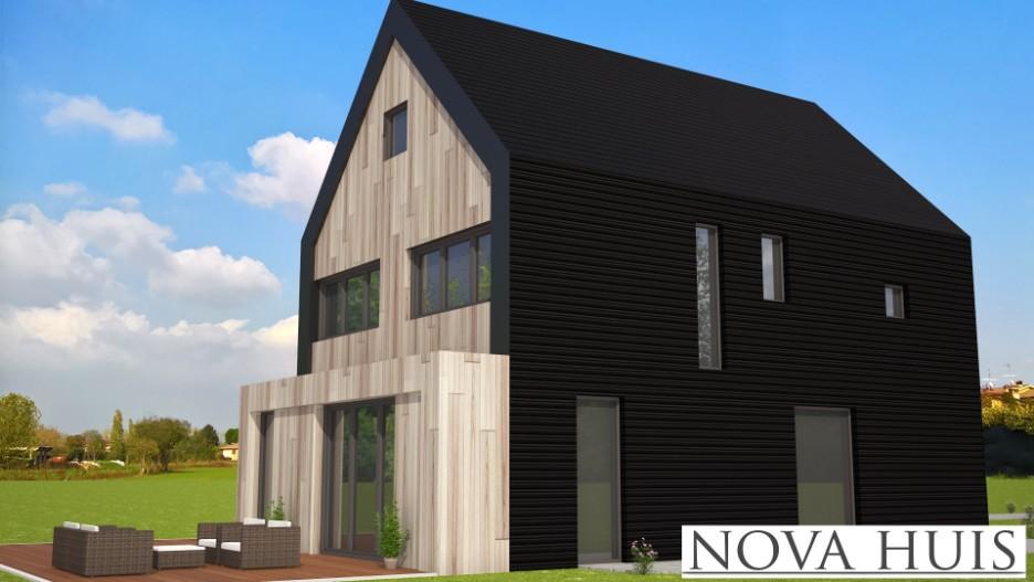 Moderne wonignen met een kap en schuurwoningen type 80 for Huis ontwerpen