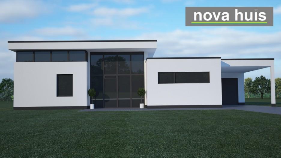 Moderne bungalow met plat dak bouwen a17 nova huis for Moderne semi bungalow bouwen