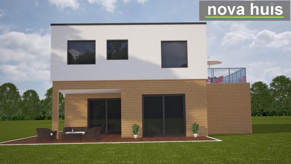 Moderne eigentijdse kubistische woning k89 nova huis - Terras eigentijds huis ...