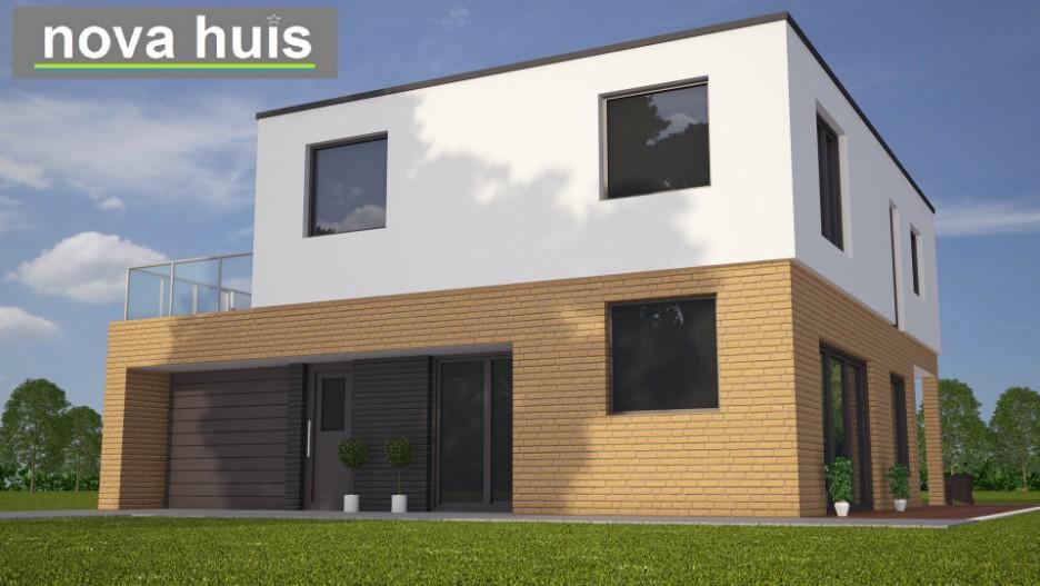 Moderne eigentijdse kubistische woning k nova huis