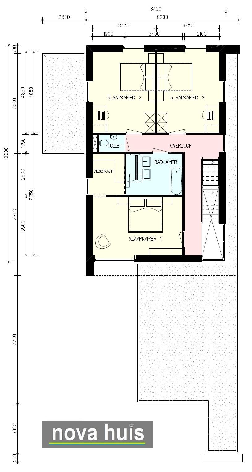 Moderne kubistische woning k142 nova huis for Indeling woning