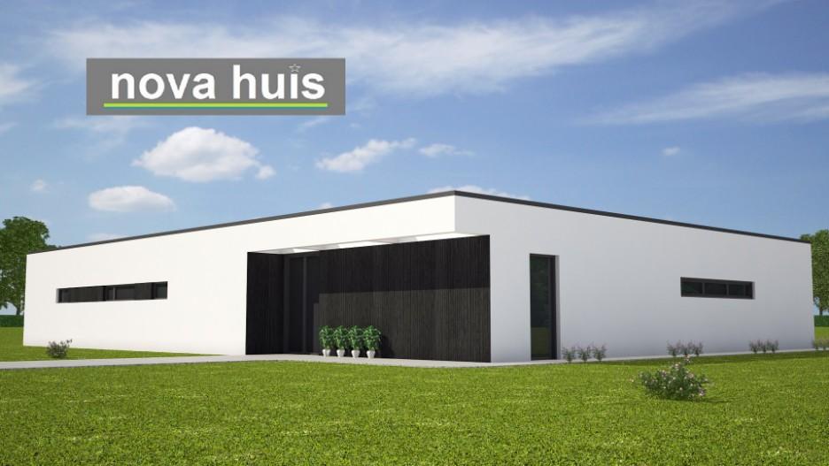 Moderne bungalow met plat dak bouwen a33 nova huis for Vrijstaand huis laten bouwen