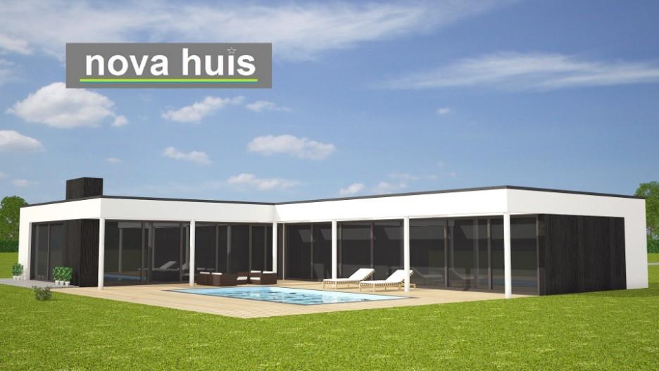 Moderne kubistisch bungalows nova huis for Moderne semi bungalow bouwen