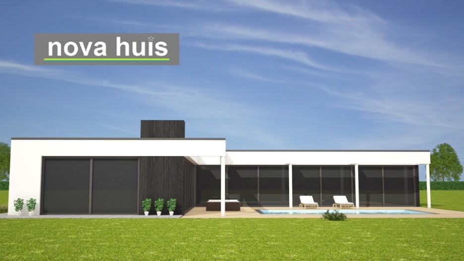 Moderne bungalow met plat dak bouwen a33 nova huis for Moderne semi bungalow bouwen