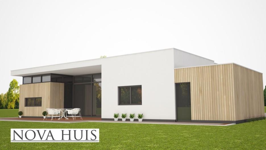 Moderne bungalow met plat dak ontwerpen en bouwen a55 for Moderne semi bungalow bouwen