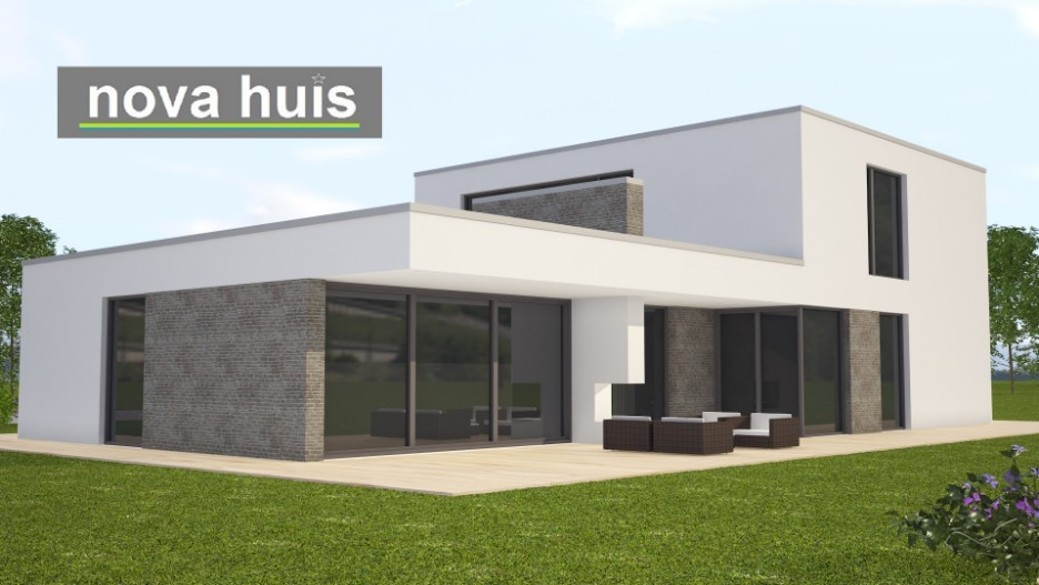 Modern kubistisch woning huis of villa nova huis for Terras modern huis