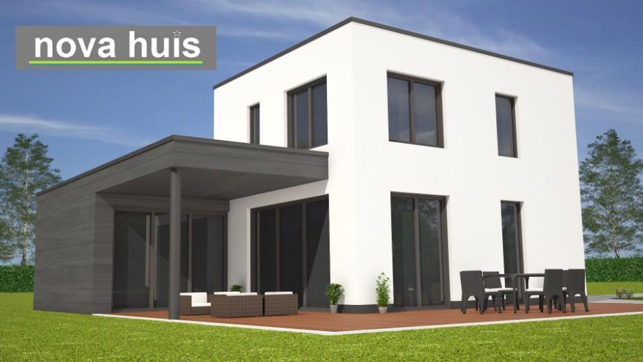 Modern kubistisch woning huis of villa nova huis for Goedkoop vrijstaand huis bouwen