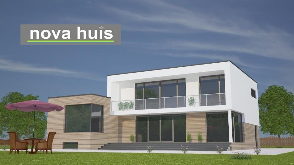 Modern kubistisch woning huis of villa nova huis - Moderne uitbreiding huis ...