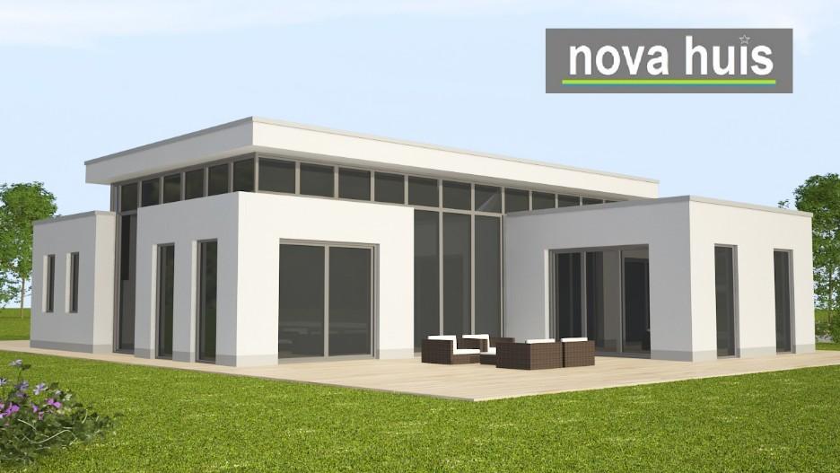 Bungalow Bouwen Prijs : Moderne bungalow met plat dak bouwen a nova huis