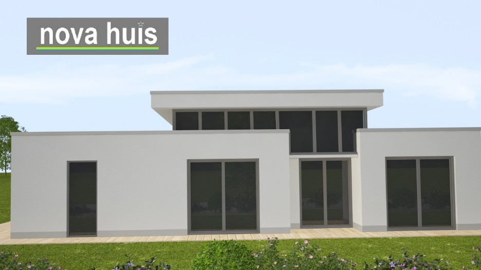 Moderne bungalow met plat dak bouwen a29 nova huis for Moderne semi bungalow bouwen