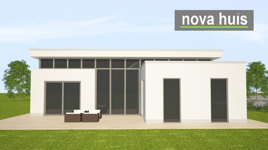 Moderne bungalow met plat dak bouwen a29 nova huis for Nieuwe woning wensen