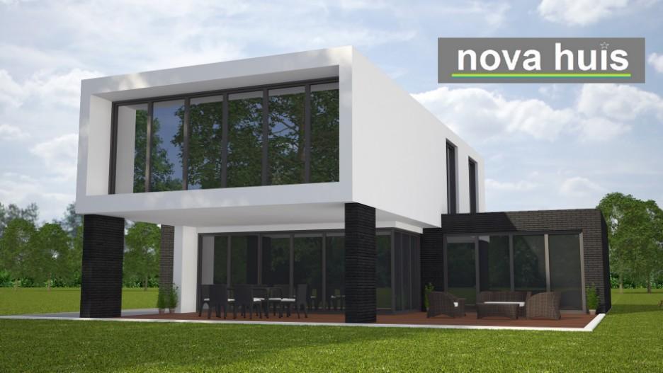 Moderne kubistische bouwstijl k nova huis