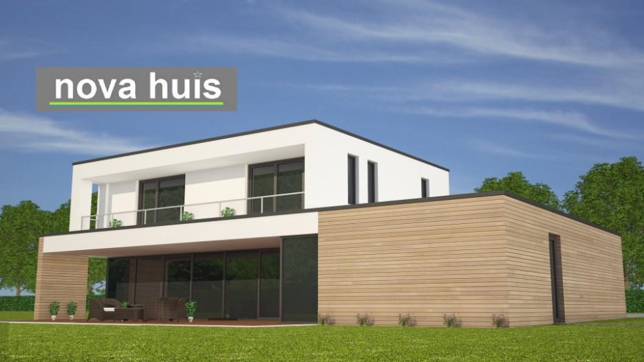 Modern kubistisch woning huis of villa nova huis - Huis architect hout ...