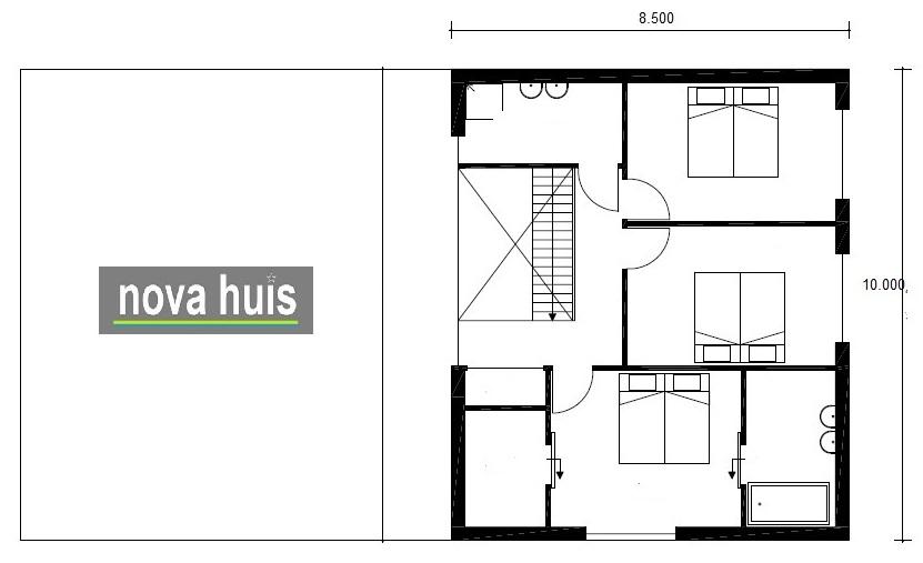 Moderne kubistische woning k118 nova huis for Woning indeling