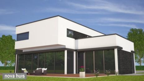 Modern kubistisch woning huis of villa nova huis for Modern huis binnenhuisarchitectuur villas