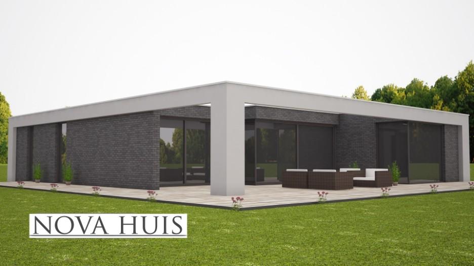 Bungalow Bouwen Prijs : Moderne kubistisch bungalows nova huis