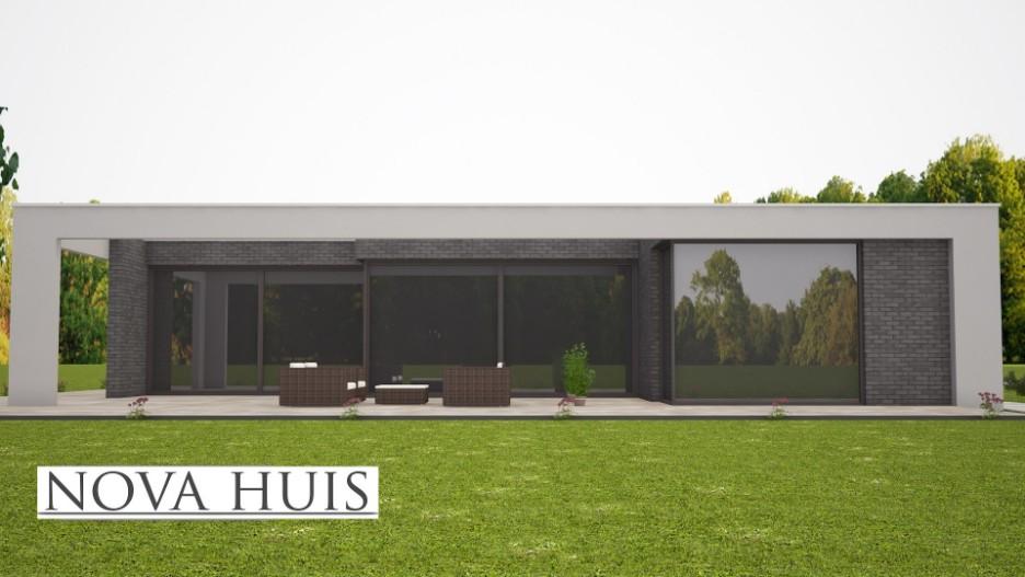 Moderne bungalow met plat dak ontwerpen en bouwen a nova huis