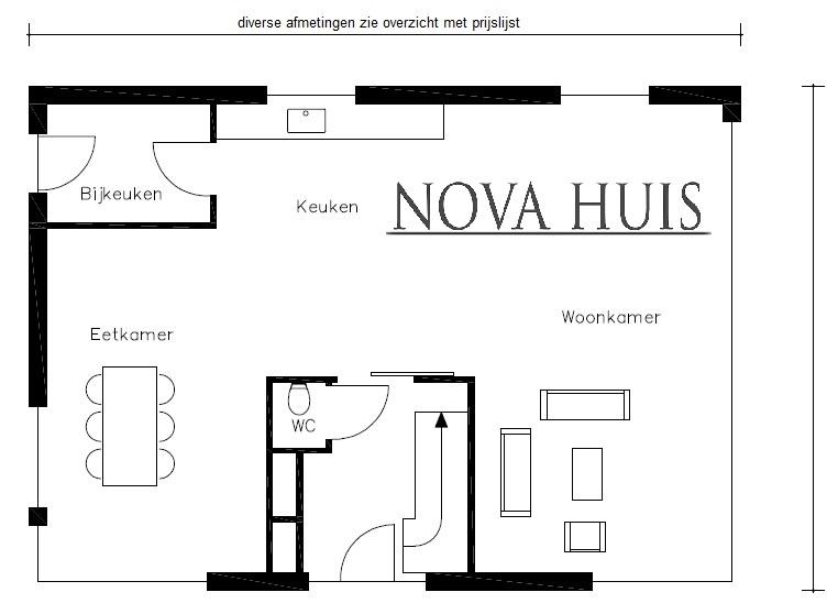 moderne wonignen met een kap en schuurwoningen type 18 v1 - NOVA HUIS