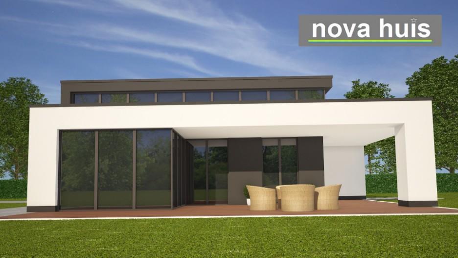 Moderne bungalow met plat dak bouwen a84 nova huis - Moderne uitbreiding huis ...