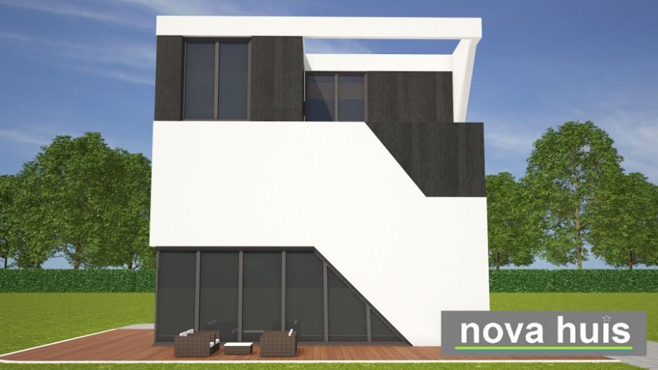 Moderne kubistische kubus woning k138 nova huis for Moderne laagbouw woningen