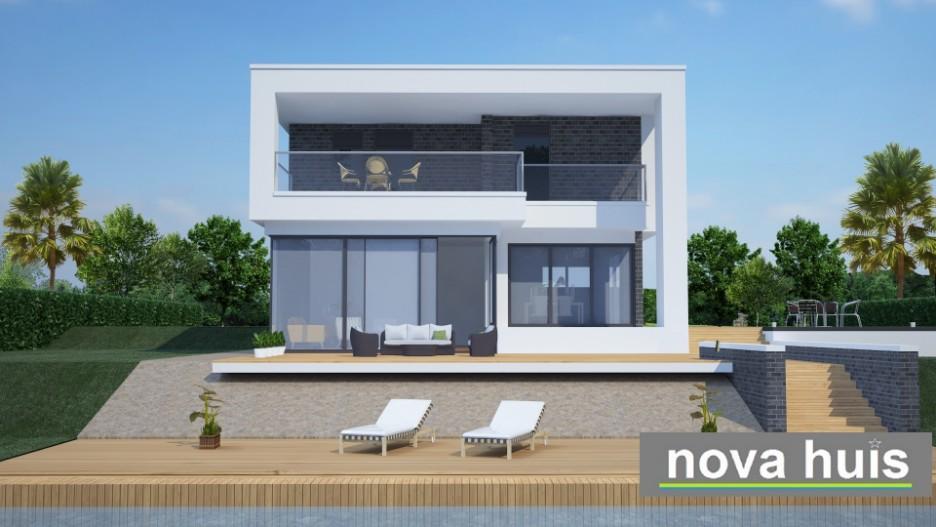 Modern kubistisch woning huis of villa nova huis - Veranda modern huis ...