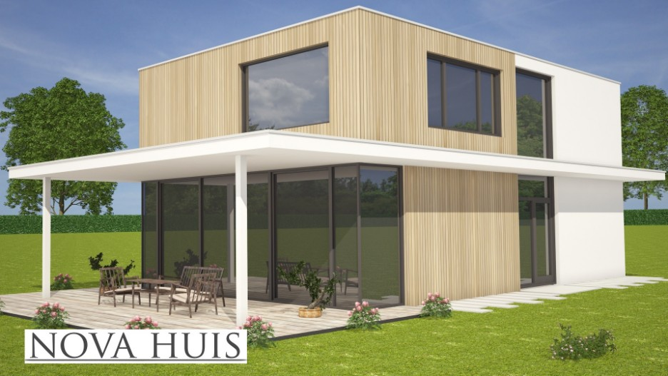 Moderne kubistische villawoning k181 nova huis for Moderne bouw