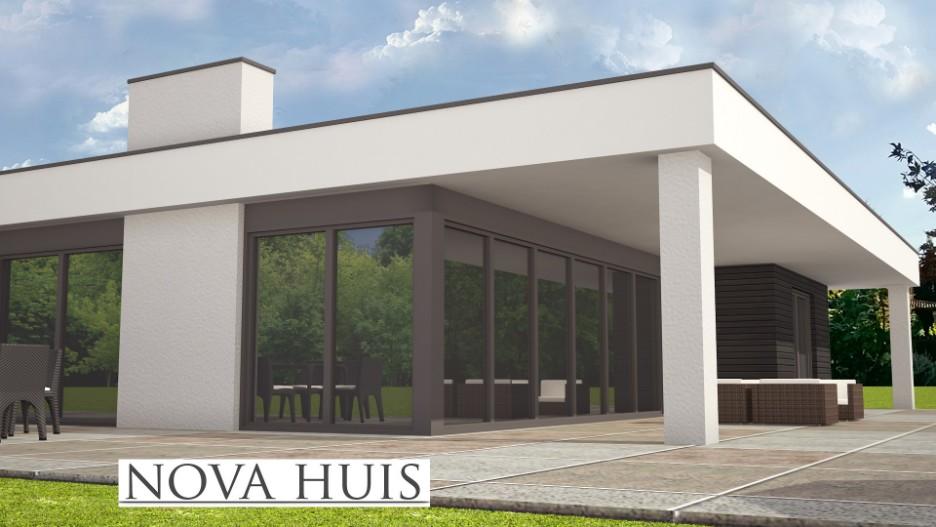 Moderne kubistisch bungalows nova huis for Huis bouwen prefab