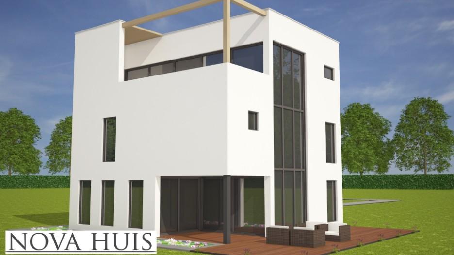 Moderne kubistische kubuswoning k180 nova huis for Huis ontwerpen