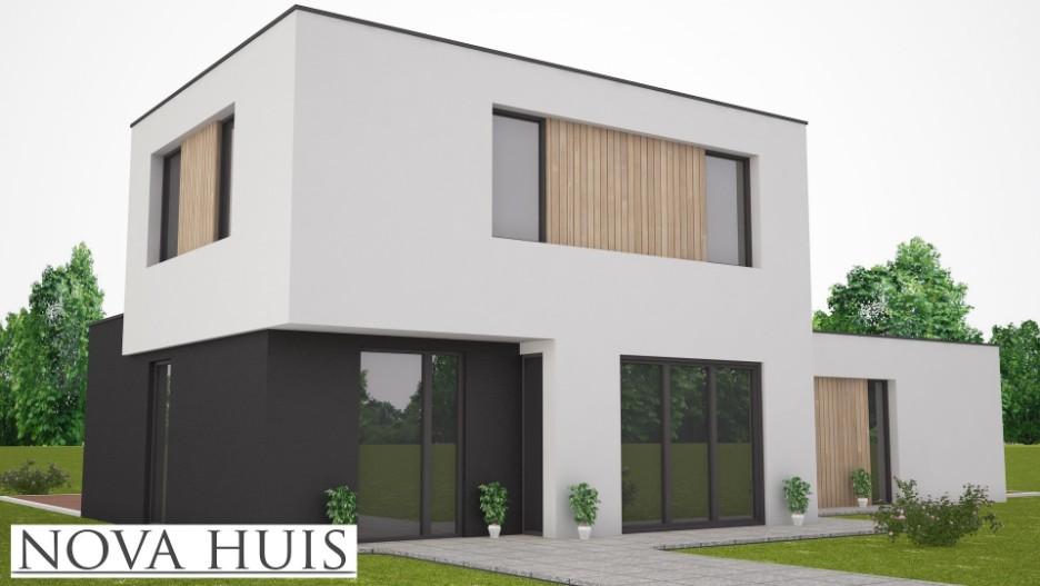 Moderne kubistische woning benb k204 nova huis for Nieuwe woning bouwen
