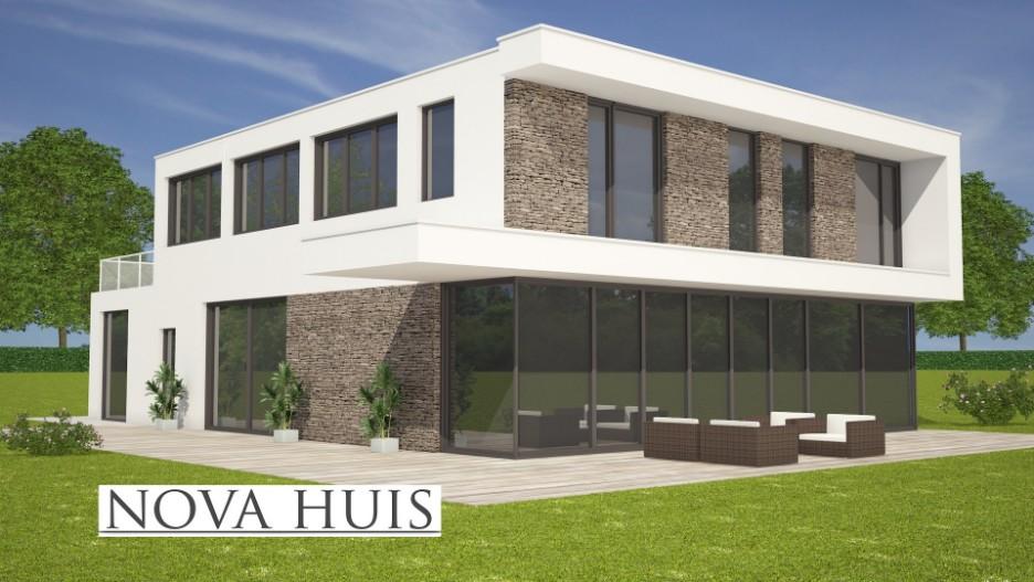 Grote moderne kubistische villawoning k184 nova huis for Ontwerp eigen huis