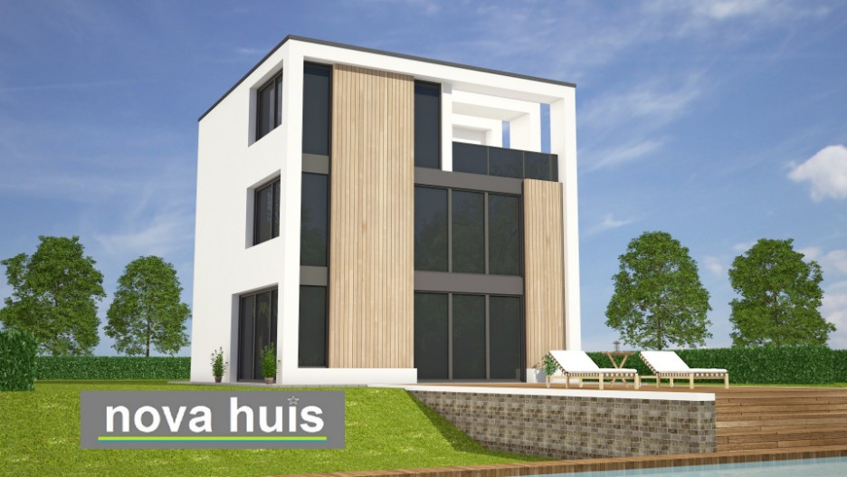 Betaalbare Prefab Woning : Moderne kubistische woning k nova huis